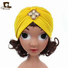 kids girls turban headband with metallic acessory