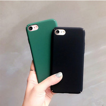For iPhone 6 Case Cool Green Frosted Hard Case For iphone 6 6s 7Plus 5s Ultra thin Black Matte Phone Cases Back Cover Capa Coque