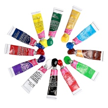 Professional Acrylic Paints Set Hand Painted Wall Painting Textile Paint Brightly Colored Art Supplies Free Brush