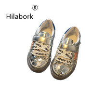 Hilabork 2017 Autumn children's new casual shoes girls sequins fashion shoes sneaker vans heelys shoes kids fashion casual(China)