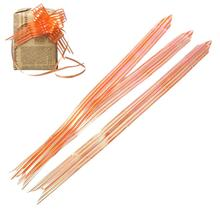 "Gift Box Garland Decorations Orange AB Color Stripe Pattern 49.5cm(19 4/8"")x 3.0cm,1 Packet(Approx 10 PCs/Packet)"