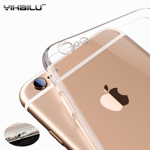 For iPhone 6s Case Soft TPU Protect Camera Cover Dust Plug Transparent Silicone Ultra Thin Slim Cover for iPhone 6 Plus Cases