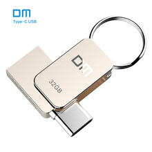 Free shipping DM PD059 16GB 32GB 64G USB-C Type-C OTG USB 3.0 Flash Drive Pen Drive Smart Phone Memory MINI Usb Stick(China)