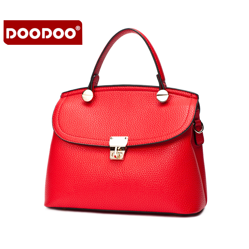 DOODOO Women Genuine Leather Handbags cowhide summer small Famous Brands Designer Handbags High Quality Womens Shoulder  C151<br>
