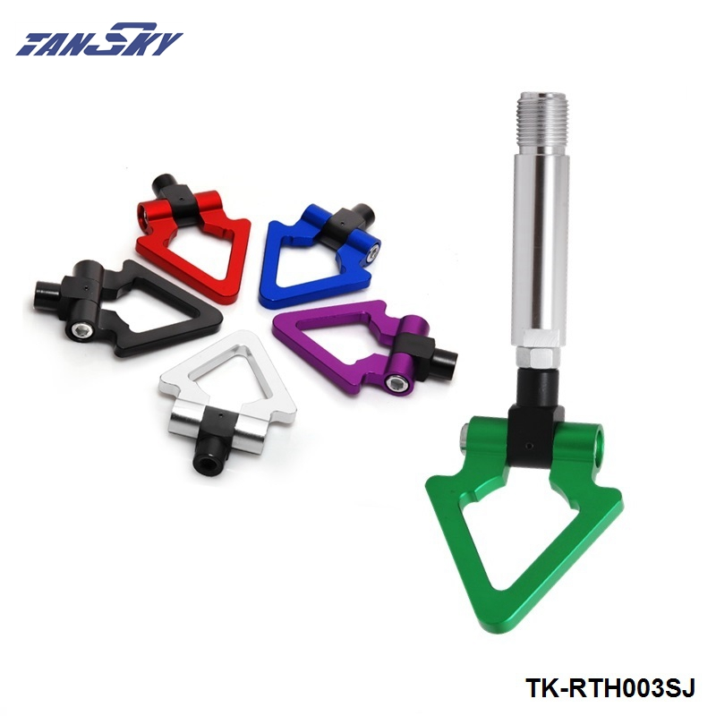 TANSKY - Billet Aluminum Front Rear JDM Japanese Car Auto Triangle Ring Trailer Tow Hook Kit For TOYOTA Yaris TK-RTH003SJ
