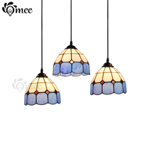 11 colors Multicolour glass pendant lamp single-head restaurant light modern tiffany bar pendant light Blue/Yellow/green/orange