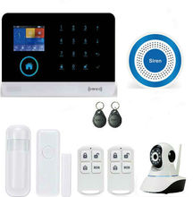 YB103 WIFI Wireless Gsm Alarm Security System Smart Home Family Alarm HD IP Camera Alarm System With RFID Keyfobs