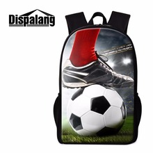 Dispalang Footbally School Backpack for Boys Children's Soccerly Bookbag Fashion Shoulder Back Pack Cool Day Pack for Teenagers