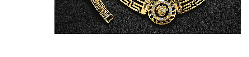 AYAYOO African Dubai Jewelry Sets 2018 Nigerian Gold Color Jewellery Sets For Women Wedding Imitation Crystal Necklace Set (6)