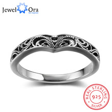 Bohemia Style Fashion Victorian Solid 925 Sterling Silver Jewelry Women Rings For Party Gift for Her (JewelOra RI102351)(China)