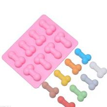 Buy 1PCS Silicone Sexy penis cake mold dick ice cube tray Mold Soap Candle Moulds Sugar Craft Tools Bakeware Chocolate Moulds