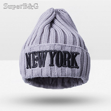 Fashion Skullies Beanies Hat For Girls Letters Pattern Cotton Kids Knitted Hats Winter Hat Hats For Children Warm Caps For Boys
