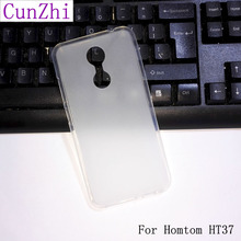 cunzhi in stock ! Soft TPU Original Cover Case For Homtom HT37 Special Cell Phone Shell (Gift HD Film + Tracking Number)