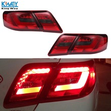 Red Smoke LED Tail Lights For TOYOTA CAMRY 2006 07 08 09 10 11 Rear Brake Lamp(China)