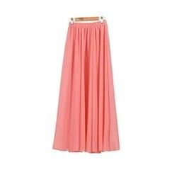Женская шифоновая двухслойная юбка-макси