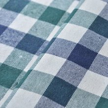 Yarn dyed Plaid single-sided sanding polyester cotton fabric winter men and women clothes pillow cloth fabric