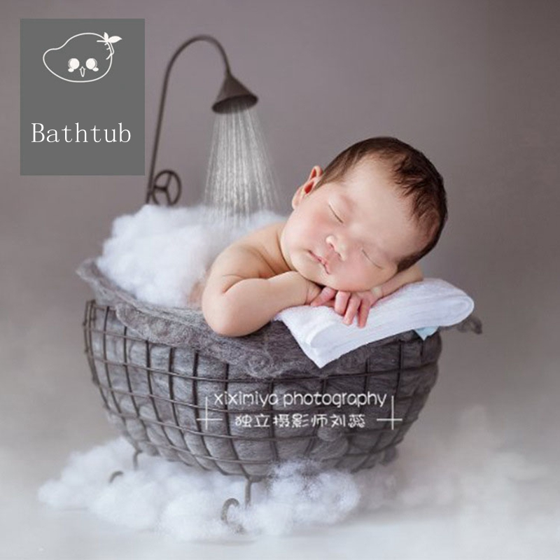 Newborn Photography Props basket baby picture assistant frame baby moon picture baby bathtub props