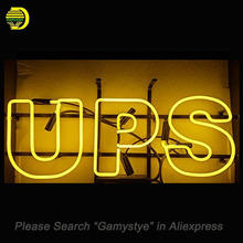 UPS Pub Neon Signs Handcrafted Neon Bulbs Glass Tube Decorate Windows Room Display beer Bar Pub sign outdoor Advertise for sale(China)