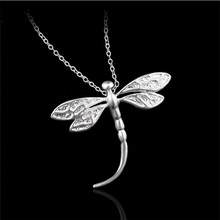 Sexual Gift Restoring Ancient Ways Pendant Dragonfly Necklaces Fashion Environmental Protection Silver Color Jewelry(China)