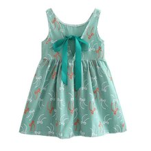 2017 Children Kids Girl Summer Dress Kids Teens Sleeves Printing Pattern Cotton Dress Clothes Vestidos New