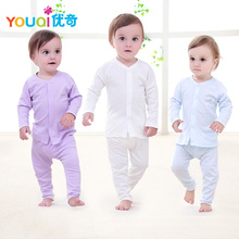 YOUQI Baby Boy Clothes Baby Girl Clothing Set Pajamas Top Pants Suit 3 6 9 18 24 Months Spring Autumn Toddler Infantil Underwear(China)
