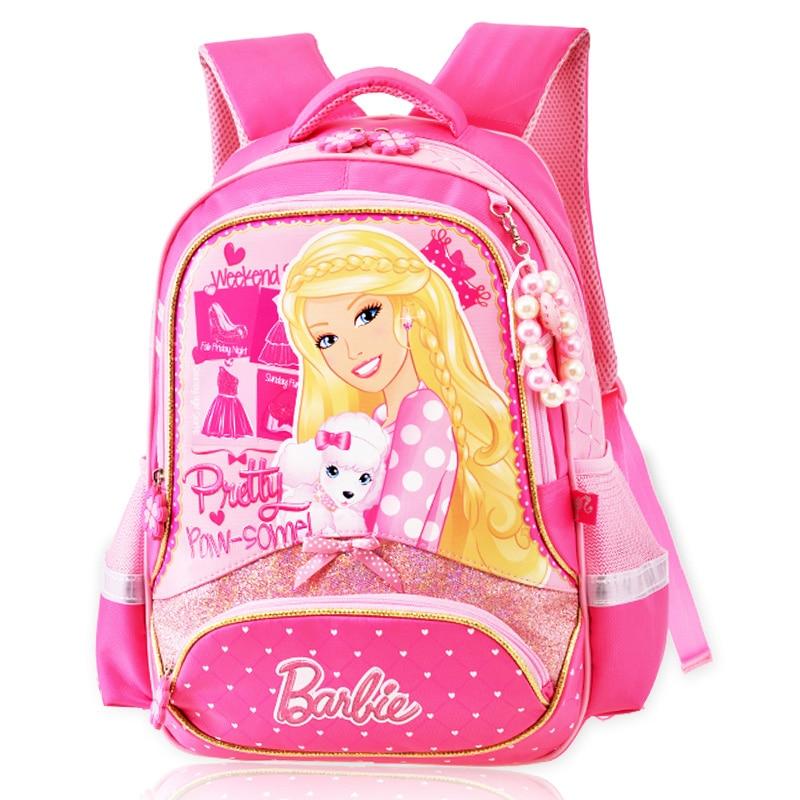 New Children Cartoon School Bag For Girls Students Princess Barbie School Backpack Gift Mochila Kids Gilrs PT526<br><br>Aliexpress