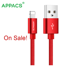 Nylon Braided Mini USB Smart Charging Metal Cable 5V 2.1A Fast Data Charging Cable For iPhone 5/6/7 iPod iPad 1M USB Cabl Sale