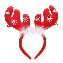 Merry Christmas Ornaments Bell Feather Decorations Antlers Christmas Headband Party Christmas Decorations Cloth Headband Gifts(China)