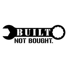 HotMeiNi Built Not Bought JDM Racing Decal Vinyl Sticker Car Window Truck(China)