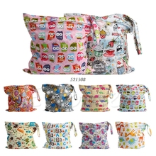 Waterproof Nappy Zipper Diaper Bag Washable Nappy Wet Dry Cloth A19249