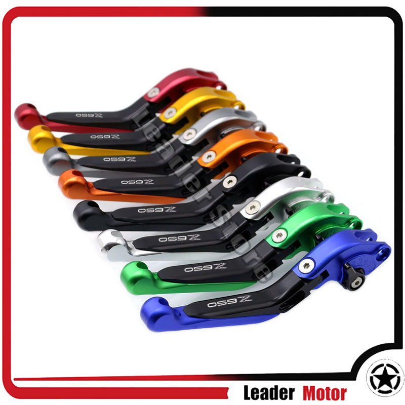 For Kawasaki Z650 Z 650 2017 Motorcycle Accessories CNC Folding Extendable Brake Clutch Levers LOGO Z650 20 Colors<br>