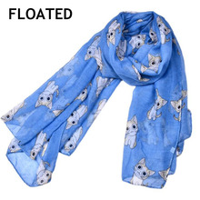 FLOATED Fashion Foulard Cute Animal Scarves for Women Cat Print Infinity Long Scarf Female Shawl Accessories(China)