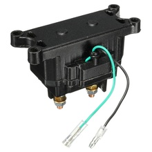 Best Price 12V ATV UTV Solenoid Relay Contactor + Winch Rocker Thumb Switch Wiring Combo(China)