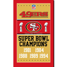 San Francisco 49ers Champions Ship Flag 150x90cm Super Bowl Champions Banner 1994 2016 World Series San Francisco 49ers Flag(China)