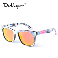 Dollger Square Sunglasses Women Mirror Colorful Sunglasses Vintage UV400 Original Brand Designer Canvas Frame Sunglasses D14(China)