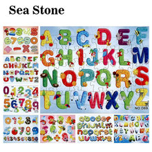 3D Paper jigsaw puzzles toys for children kids toys brinquedos Alphabet Numbers puzzle educational Baby toys Puzles Puzzel Gifts(China)
