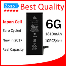 10pcs/lot Best Quality 0 zero cycle Battery for iPhone 6 6G 1810mAh 3.82V Replacement Repair Parts(China)