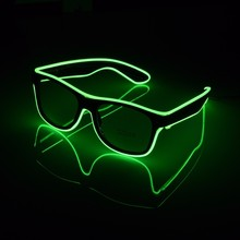 NEW Fashion 7 Colors Flashing EL Wire Led Glasses Luminous Party Decorative Lighting Classic Gift Bright Light Festival Gift(China)