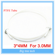 1M 3*4MM PTFE Tube Teflon PiPe to J-head hotend RepRap Rostock Bowden Extruder for 3.0mm with free shipping