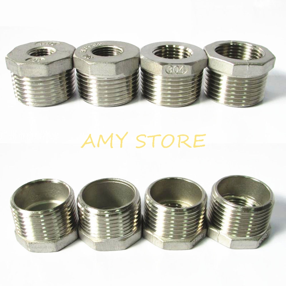 "Reducing Bush 3//4/""Male to 1//2/""Female Stainless Steel Thread Reducer Bushing Pipe"