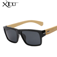 XIU Polarized Sunglasses Men Vintage Bamboo Glasses Fashion Sunglass Women  Brand Designer Oculos De Sol Masculino