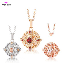 2017 New Women Necklaces 20.5mm Aromatherapy Lockets Pendants Essential Oil Diffuser Perfume Locket Necklace L100 Free Shipping