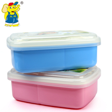 Kid Lunch Bento Box Dinnerware Sealed Single Layer High Heat Resistance Child Lunch Food Container for School Microwave Oven(China)