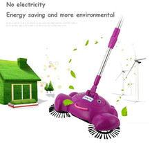2017 Arrival 360 Rotary Home Use Magic Manual Telescopic Floor Dust Sweeper rotate floor mop household helper drop ship(China)