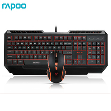 Rapoo V100 Keyboards Mouse Set 16-million-color Backlit Gaming Keyboard and Mouse Combo For Dota 2 Gamer LOL Game(China)