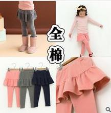 Explosion of 2014 new autumn children Leggings girls culottes 100-130 code sizes 4pcs/lot free shipping