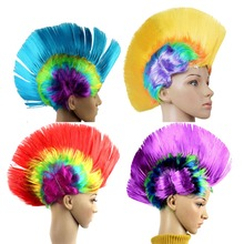 1 Piece Party Costume Hair 4 Designs for your choice Halloween Decoration Unisex Wig Funny Rock Fancy Dress