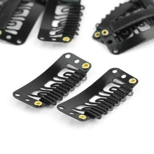 100pcs/lot  4 Colors U-Shape Metal Iron Snap Comb Clips /Wigs Clips/Hairpiece Clips For Hair Extensions Wigs DIY Use