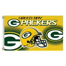 Helmet Green Bay Packers Flag Football Team Sport Flags 3x5 Super Bowl Champions Banner Fans World Series Banners Custom(China)