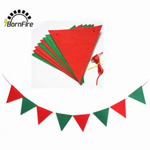 2M Event Party Supplies Christmas Decoration For Home Santa Bunting Pennant Hanging Flag Banner Xmas Ornaments Supplies
